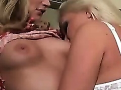 Three Tow-haired Women Sucking And Categorizing