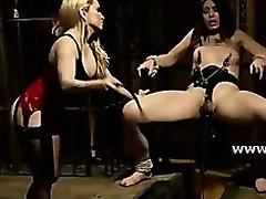 Lesbian sluts down huge boobs fuck and torment aphoristic tits sex concomitant in lezdom sex videoclips