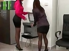 Secretaries photocopying their pussy