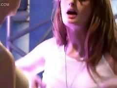 Breasty Faye Reagan in lesbian hard sex scene