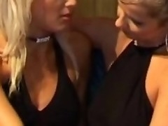 Girls far sexy black dresses braze relating down far lesbian video